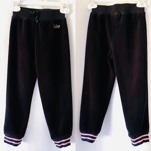 Juicy Couture Black Velour Joggers 4T